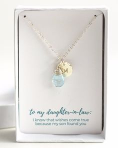 Daughter In Law Necklace,Daughter In Law Gift, Daughter In Law ...