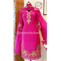 Party Wear Indian Dresses, Designer Party Wear Dresses, Pakistani Wedding Outfits, Indian Bridal Outfits, Pakistani Bridal Wear, Kurti Designs Party Wear, Dress Indian Style, Embroidery Suits Punjabi, Kurti Embroidery Design