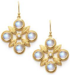 Laurie Kaiser Quatre Earrings in rainbow moonstones and white diamonds. www.lauriekaiser.com