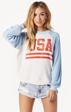 team usa sweater by Wildfox | PLANET BLUE