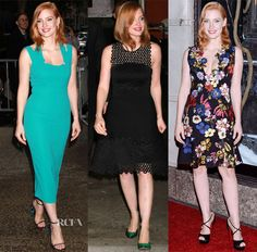 Jessica Chastain In Roland Mouret, Lela Rose