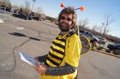 Bee Safe Neighborhoods in Colorado collected 35 letters to Lowe's the day before Halloween asking the store to give bees treats, not tricks. Photographer: Greg Robinson