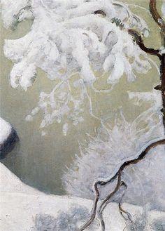 Ensi Lumi, 1931, private collection Pekka Halonen (Finnish, 1865–1933) .  .
