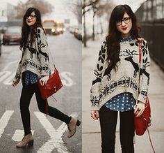 Bonnie Barton - Sweater - Deer + Dots