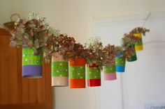 DIY CRAFT ** Toilet paper rolls ** toilet roll decoration wedding maybe? Paper Roll Crafts, Diy And Crafts, Diy For Kids, Crafts For Kids, Toilet Paper Roll, Flower Garlands, Crafty Craft, Party Time, Whimsical