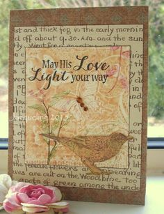 Let His Love Light Your Way    5 1/2 x 4 or by SouvenirdelaFrance
