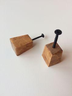 Sono felice di condividere l'ultimo arrivato nel mio negozio #etsy: Wooden Knob,Modern wood knob,Geometric Knob,Drawer Pulls,Rustic Knob,Pull Knob