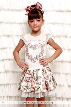 Miss Cake Doce Princesa Kids Outfits Girls, Kids Girls, Cute Girls, Cool Girl, Girl Outfits, Fashion Kids, Kids Wear, Children Wear, Children Clothes
