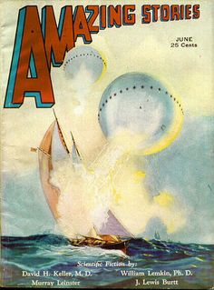 UFO and related appearing images from Amazing Stories from 1930 to 1932 #vintage…