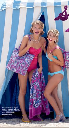 Vera Bradley bathing suits- perfect colors to show off a vicious tan!