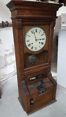 Antique Time Clock Recorder Antiques Clock Time Clock