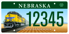 Union Pacific license plate for the state of Nebraska. Won first place in an international competition. Designed by our son, Chad Leahy, graphic artist for UP. Man Cave Room, Man Cave Bar, Vanity License Plates, Licence Plates, Chevron Headboard, License Plate Designs, North Platte, Tourist Info, Frames