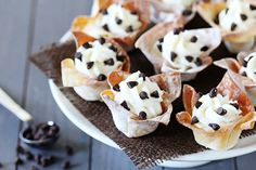 Cannoli cups found on Hip Hostess     |     Organize your favourite recipes on your iPhone or iPad with @RecipeTin! Find out more here: www.recipetinapp.com      #recipes #wonton
