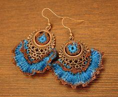 add crochet to old jewelry hardware