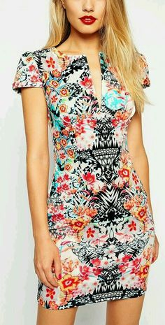 Pretty print dress – New York Fashion New Trends Pretty Dresses, Beautiful Dresses, Estilo Cool, Short Dresses, Summer Dresses, Mode Inspiration, Forever21, Dress Me Up, Spring Summer Fashion
