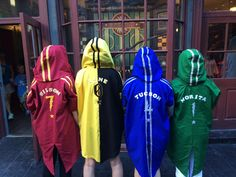 DIY Lightweight Harry Potter Quidditch robes costume. Great for the Orlando sunshine!
