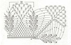 Nice edging with corner instructions crochet chart