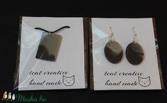 Ékszer szett kőhatású (tundike1224) - Meska.hu Resin, Place Card Holders, Drop Earrings, Creative, Cards, Handmade, Jewelry, Jewellery Making, Hand Made