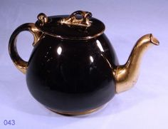 Black and Gold Vintage Teapot made in England