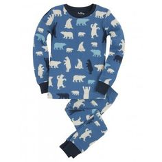 062c6334e6d4 Hatley Childrens Designer Clothes Boys Pyjamas Polar Bears - Dandy Lions  Boutique