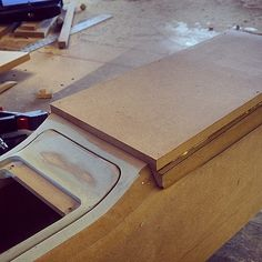 chevelle old console was falling apart. custom console fabrication