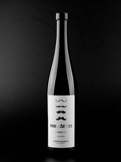 Great design for a good cause -Moustache Mo BrosWine. Designed by Spaincreative, Spain