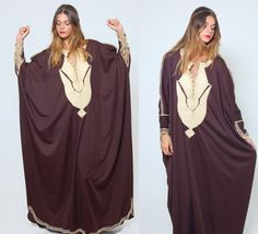 Hey, I found this really awesome Etsy listing at https://www.etsy.com/listing/198312133/vintage-70s-embroidered-caftan-mocha