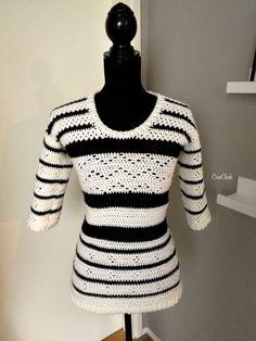 Fabulous Crochet a Little Black Crochet Dress Ideas. Georgeous Crochet a Little Black Crochet Dress Ideas. Crochet Shirt, Crochet Yarn, Crochet Bodycon Dresses, Easy Crochet Projects, Cardigan Pattern, Knitting Stitches, Crochet Clothes, Mantel, Short Sleeve Dresses