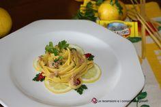 Tagliolini al limone con tonno http://aglaiarecensioni.blogspot.it/2017/02/tagliolini-al-limone-con-tonno.html