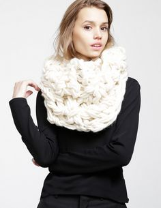 """Try this free pattern to make the Moby Scarf for a bold winter statement piece - they do say go big or go home. :) YOU WILL NEED: 3 balls of WATG's Crazy Sexy Wool 2 poster tubes - 8 cm/3"""" diameter,..."""