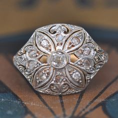 Unique Engagement Ring-Art Deco - 1020s. Engagement by Engaged WithDiamonds