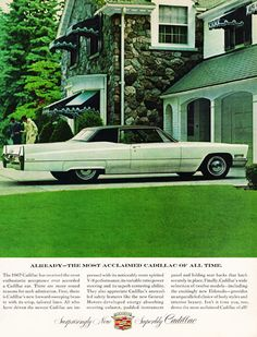 Cadillac Coupe DeVille 1967 Country House - Mad Men Art: The 1891-1970 Vintage Advertisement Art Collection