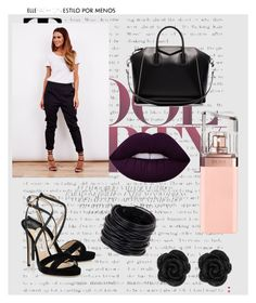 """black  women--"" by belma01 ❤ liked on Polyvore featuring Jimmy Choo, Saachi, Givenchy, Lime Crime and HUGO"
