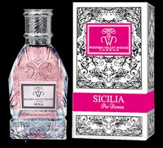 Sicilia Per Donna A sensual woody, but also sweetly fruity and floral fragrance for women which is opened with nice notes of petit grain, peach and neroli. Its heart is warmed by a bouquet of flowers of rose, jasmine, orange blossom and osmanthus which leaves a trail of santal, amber, patchouli and musk. (Fresh, Spicy, Woody) EDP, 75 ml. for Women Top Notes: Bergamot, pink pepper, cardamom Heart Notes: Patchouli, cedar, amber Base Notes: Vanilla, tonka beans, oak moss