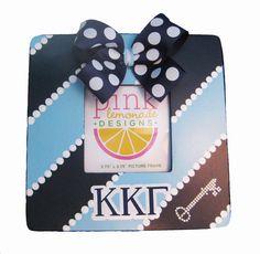 KKG Kappa Kappa Gamma Key Picture Frame by APinkLemonadeDesigns, $18.00
