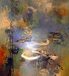 Ce N'est Pas Giverny from Gallery 2 of 9 - Abstract Paintings Oil on Canvas 60 x 50 - Leslie Allen