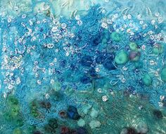 Sea knots  Another sea inspired textile art piece with lots of texture, french knots and seed stitches
