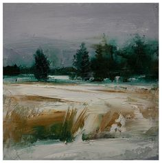 Johns Land. 8X8 Original landscape oil painting from Timber