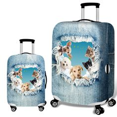 Cute 3D Cute Merry Christmas With Snowman And Gingerbread Pattern Luggage Protector Travel Luggage Cover Trolley Case Protective Cover Fits 18-32 Inch