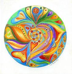 Mandala by Sylwia A Horosz – Intuitive Art » Dobra energia związku / Good vibes…