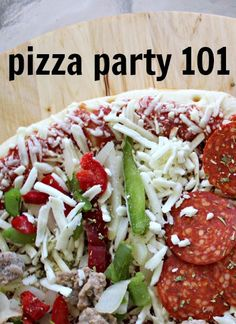 pizza party 101 with #digiorno design a pizza kit & #nestle drumstick lil' drums! #mygoodlife #collectivebias #shop #cbias