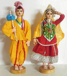 Traditional Dresses and Fashion Culture across different Indian States Gujrati Wedding, Navratri Dress, Pop Art Tattoos, Different Wedding Dresses, India Decor, Indian Wedding Couple, Wedding Doll, Indian Dolls, Disney Concept Art