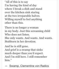 Clementine von Radics, Swamp #quotes