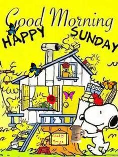 Sunday Gif, Good Morning Happy Sunday, Sunday Humor, Gd Morning, Good Morning Friends, Good Morning Wishes, Happy Day, Snoopy Love, Charlie Brown And Snoopy