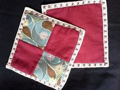 Patch work Pot Holders!  They match the Placemats!