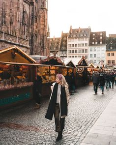 6 Dreamy Winter Destinations in Europe (With Travel Guides) - Find Us Lost Christmas market stalls in Strasbourg France via Best European Christmas Markets, Christmas Markets Germany, Christmas Markets Europe, Christmas Destinations, Winter Destinations, Backpacking Europe, Christmas Market Stall, European Destination, Winter Travel