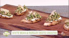 White Bean and Parsley Pesto Crostini Recipe | The Chew - ABC.com