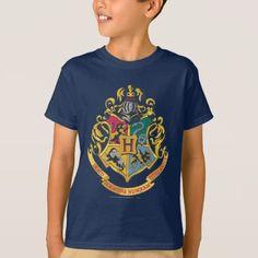 Harry Potter Hogwarts Crest - Full Color T-Shirt , Harry Potter Magic, Harry Potter Shirts, Harry Potter Hogwarts, Ravenclaw, Kids Series, Hogwarts Crest, Boys T Shirts, Tshirt Colors, Colorful Shirts