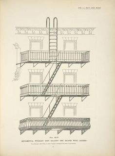 complete history of New York City fire escapes Fire escape diagramFire escape diagram Story Tattoo, Iron Balcony, New York Photography, Little Shop Of Horrors, Fire Escape, West Side Story, Entrance Gates, Urban Life, Wrought Iron