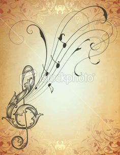 Music & Filigree ♪♫ This would be a beautiful tattoo with the right placement & alterations. <3
